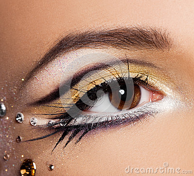 Close-up of  womanish eye