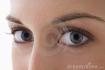 Close Up Of A Young Woman s Eyes
