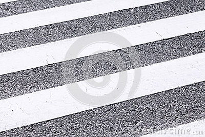 Close-up Zebra Pedestrian Crossing