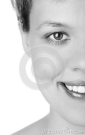 Close-ups Half face girl
