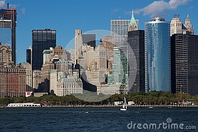 Close View of Downtown Manhattan Eastern Skyline