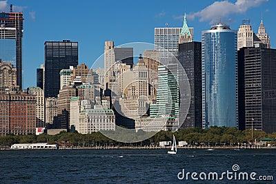 Close View of Downtown Manhattan Eastern Skyline