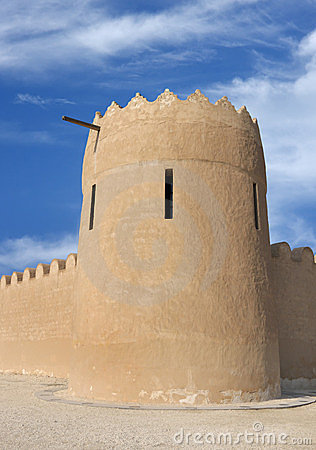 Close view of the eastern tower of Riffa Fort