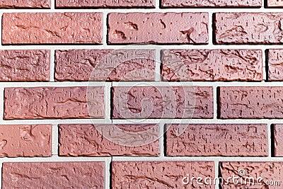 Close View Of A Fake Plastic Brick Wall Royalty Free Stock