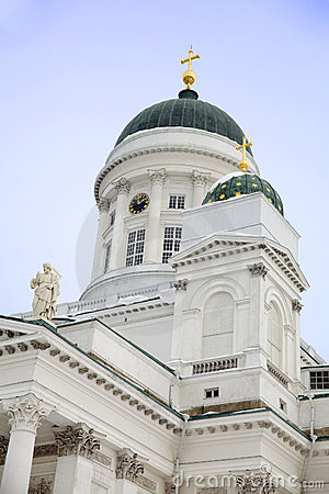 Close View of Helsinki Cathedral