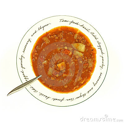 Close View Lentil Soup