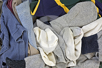 Close view men's laundered clothes