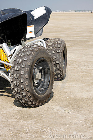 Close view of the rear desert scooter