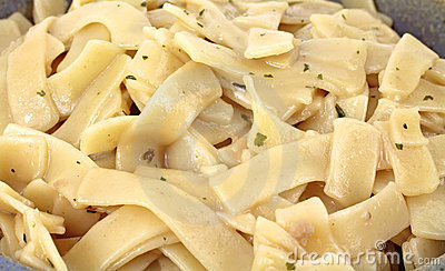Close view of stroganoff flavored noodles