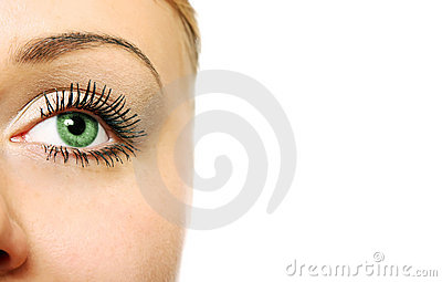 Close view of woman eye