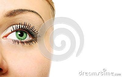 Close view of woman eye