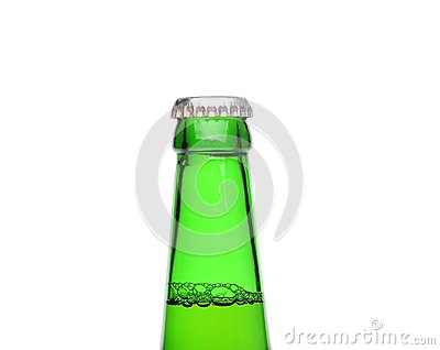 A closed bottleneck on white background.