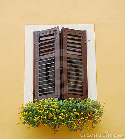 Closed Brown Shutters, Izola