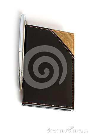 Closed business leather book