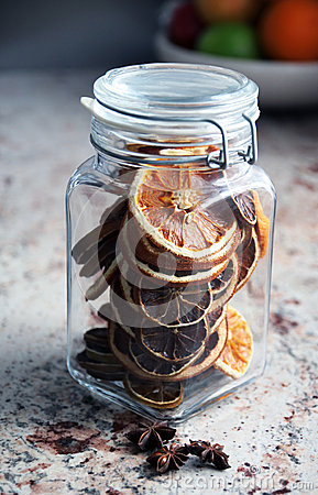 Closed Christmas decorations in a jar - star anise