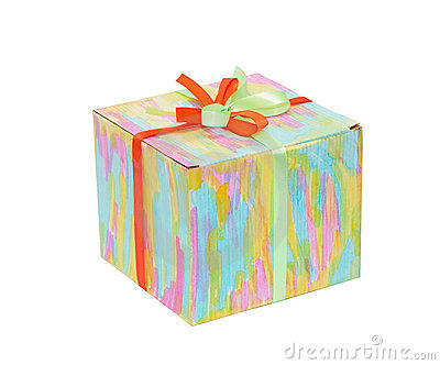 Closed color gift box