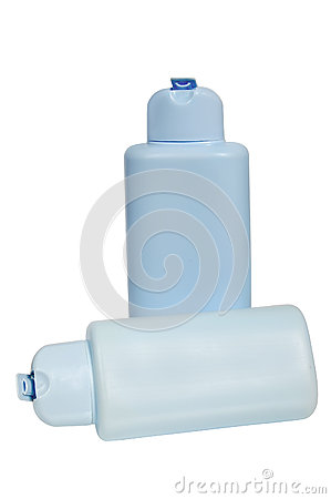 Free Closed Cosmetic Or Hygiene Blue Plastic Bottle Of Royalty Free Stock Photography - 49376397