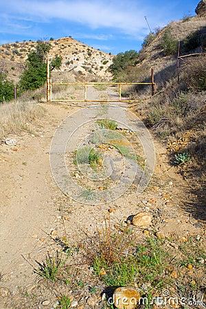 Closed Desert Road