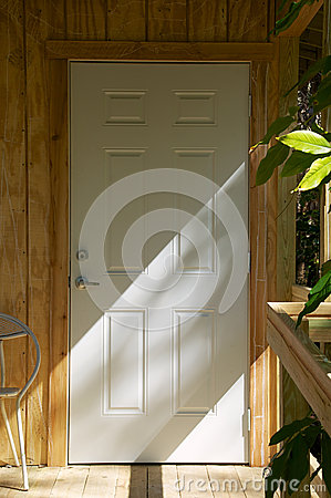 Closed door outside