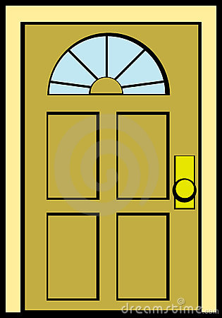 Closed Door Vector Illustration Royalty Free Stock Photo ...