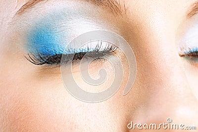 Closed female eye