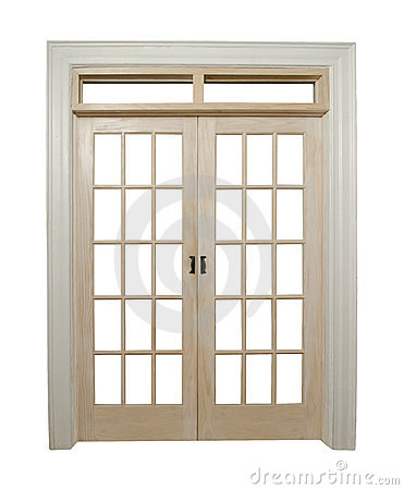 Closed french doors