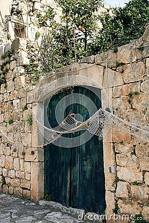 Closed gate in Ston - Croatia
