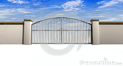 Closed Gates And Wall