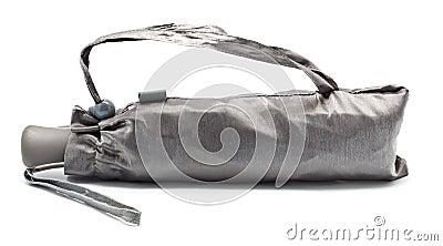 Closed Gray Umbrella