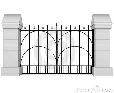 Closed Iron Gate