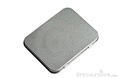 Closed metal tin case