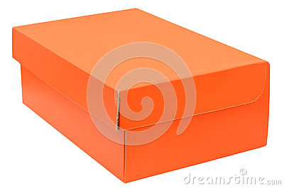Closed orange box