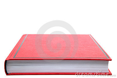 Closed Red book.