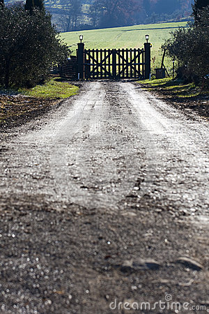 Closed Rural Wooden Gate