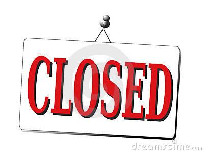 Closed Sign Isolated Stock Image - Image: 11711801