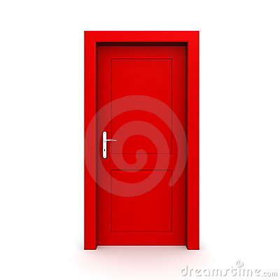 Free Closed Single Red Door Stock Image - 9277231