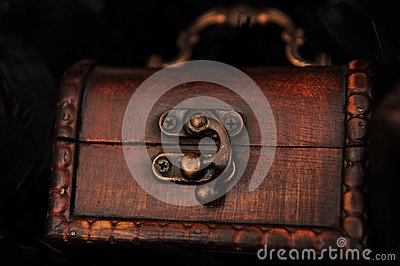 Closed small treasure chest