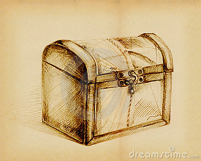 Closed Treasure Chest Stock Photo - Image: 18146170