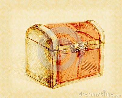 Closed Treasure Chest Stock Image - Image: 18221481
