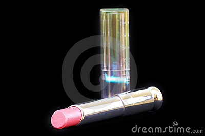 Closed-up lux lipstick with pack isolated on