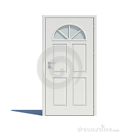 Free Closed White Door With Shadow Royalty Free Stock Photo - 50592335