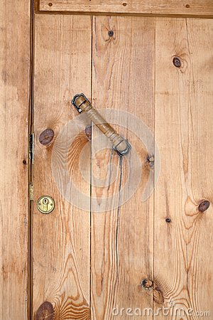 Closed Wooden Barn Door