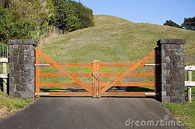 Closed Wooden Gate