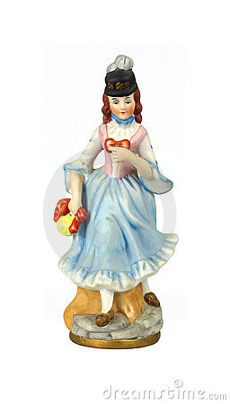 Closer View Vintage Lady Figurine