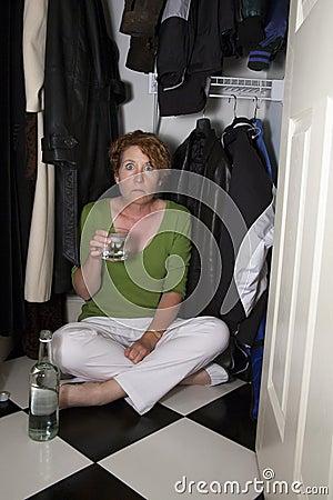 Closet Drinker Surprised