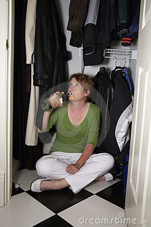 Closet Drinking Royalty Free Stock Photo Image 20528545