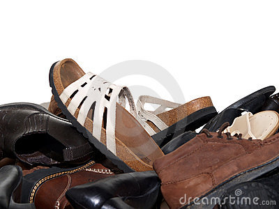 Closet full of shoes