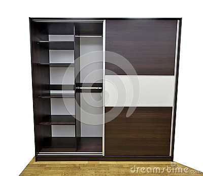 Closet with open door