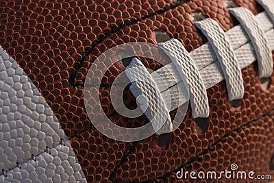 Closeup of American football