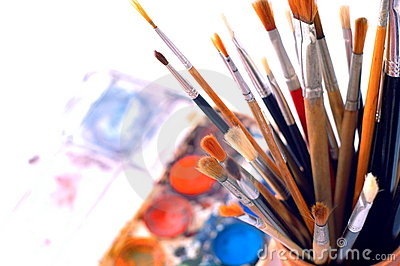 Closeup Of Artist's Watercolor Paintbox Royalty Free Stock Photography - Image: 6073857